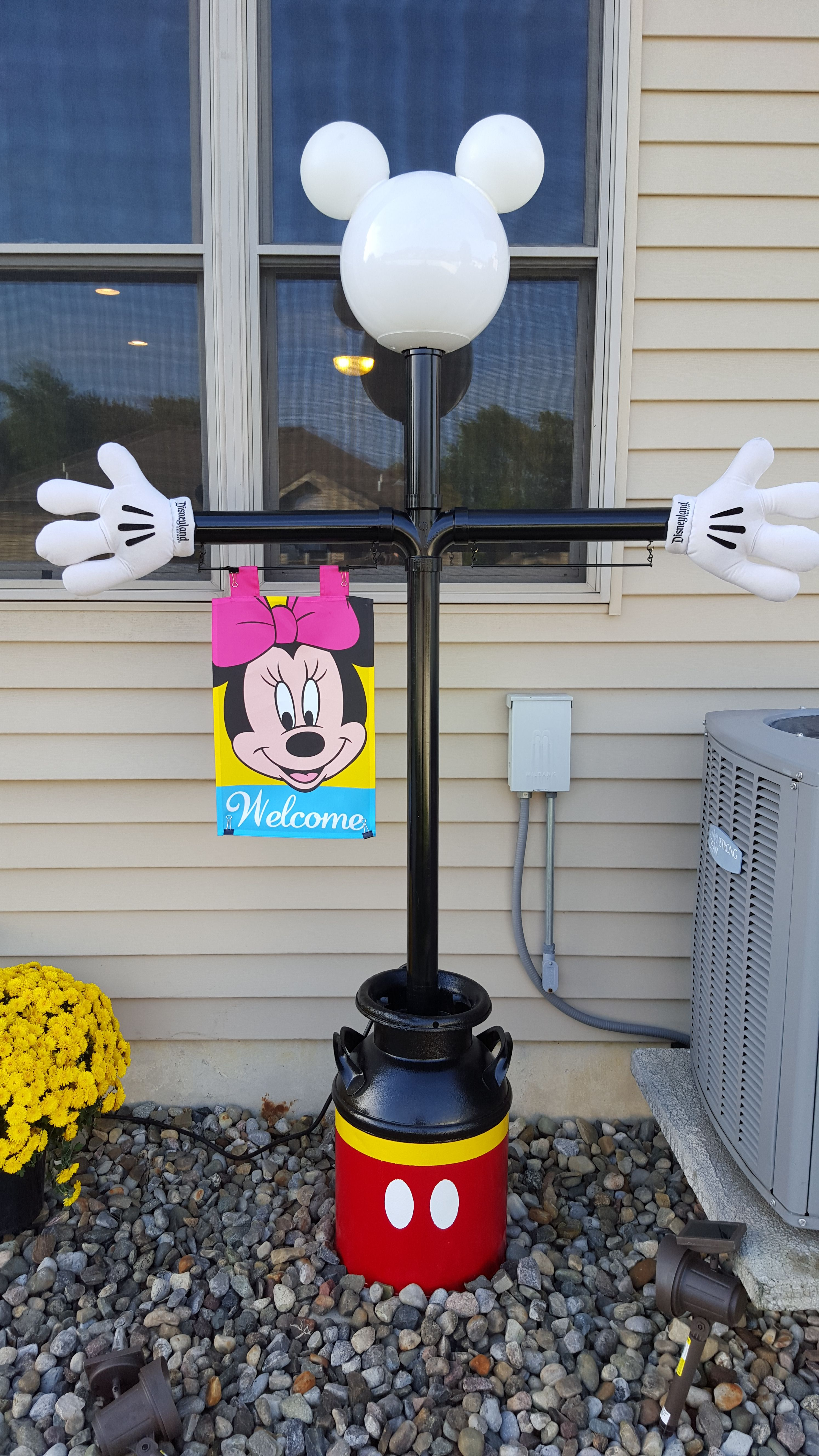 Mickey Mouse Lamppost. Finally Finished It. Have Lots Of Info And Hints, But