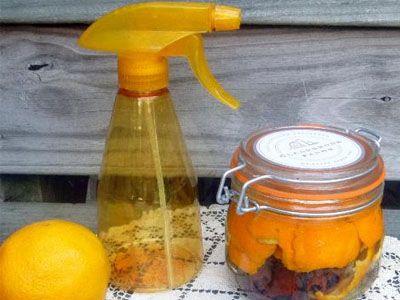 Vinagre com aroma a laranja e canela para a limpeza de bancadas
