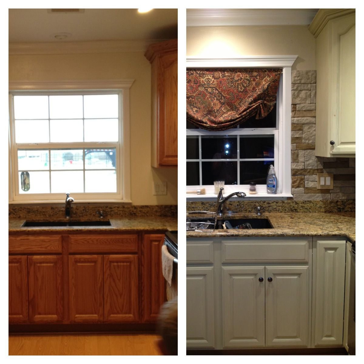 My Kitchen Update Annie Sloan Chalk Paint On Cabinets And Airstone