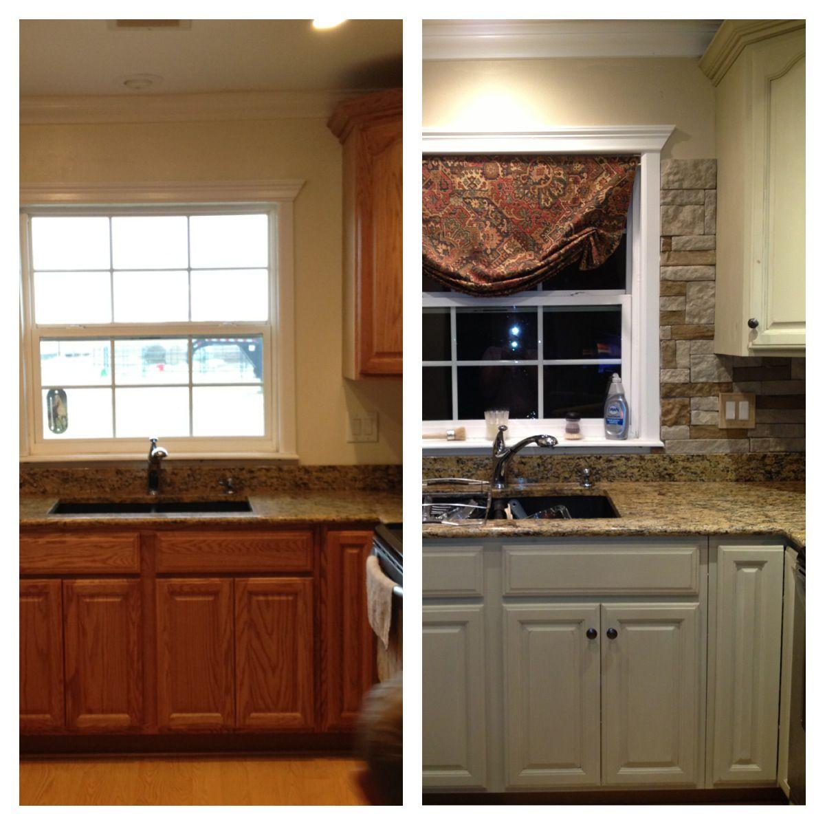My Kitchen update...Annie sloan chalk paint on