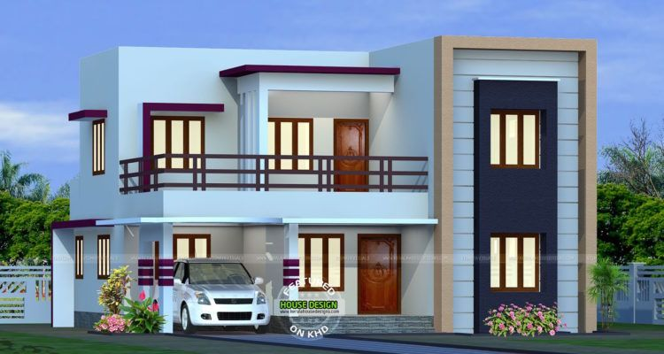 2082 Sq Ft Flat Roof Home Design House Roof Design Small House Roof Design Flat Roof House