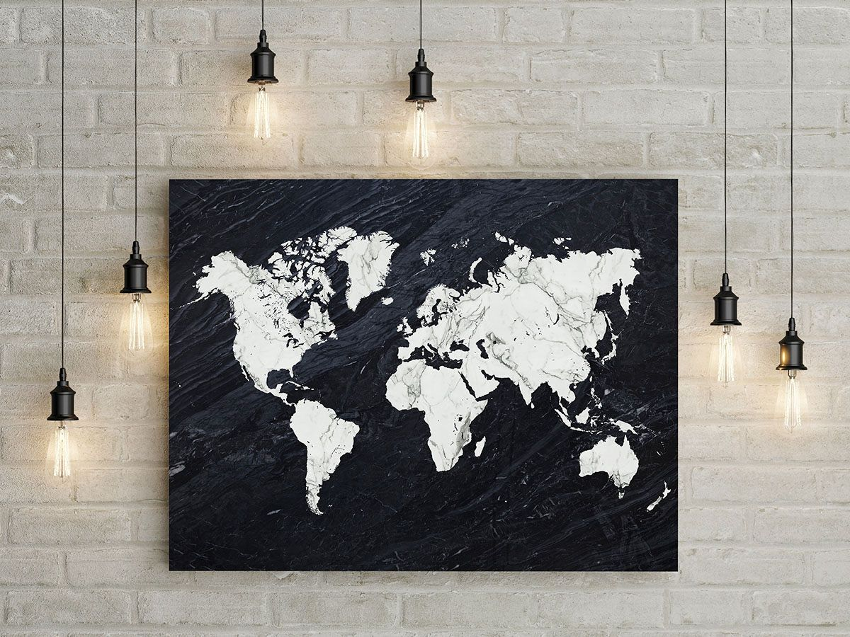printable world map poster marble print black and white marble art world map wall art wanderlust poster office decor instant download