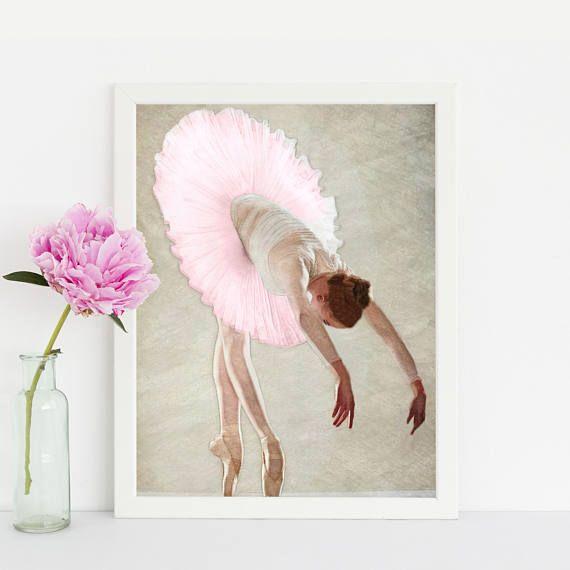 #ILoveBallet #BallerinaArt #PinkTutu Ballerina Tutu Watercolor Ballerina Art Print Watercolor
