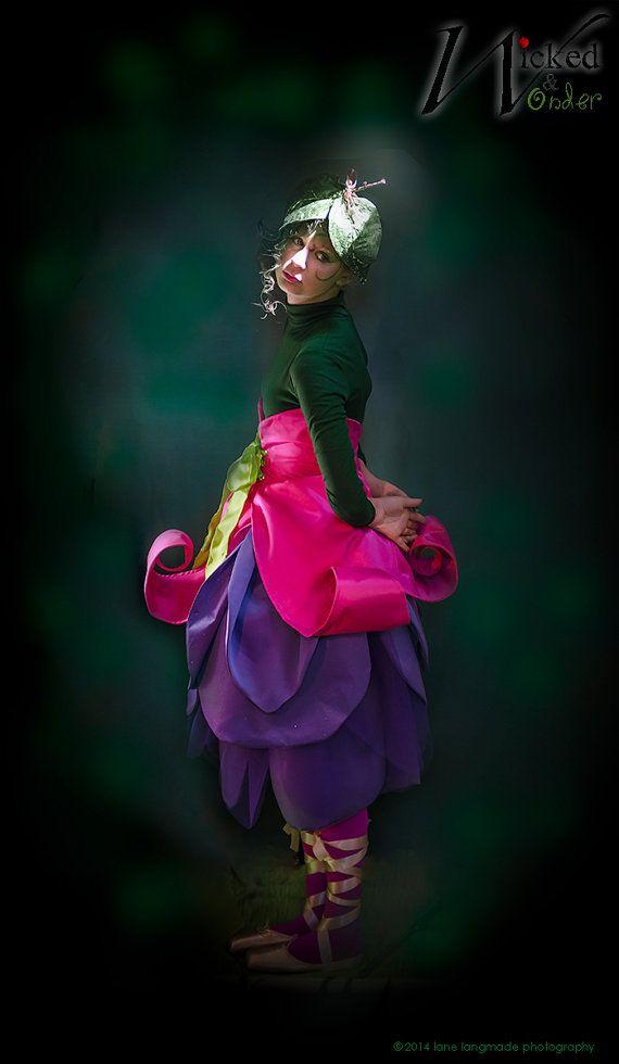 Girls Fairy Costume Or Elf Costume Flower Costume Fuchsia Etsy Fairy Costume Flower Costume Elf Costume