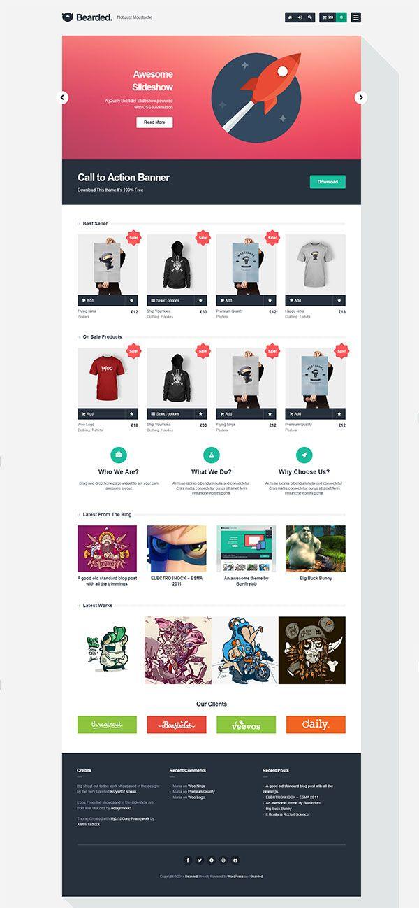 Bearded wordpress free theme | Wordpress | Pinterest | Wordpress ...