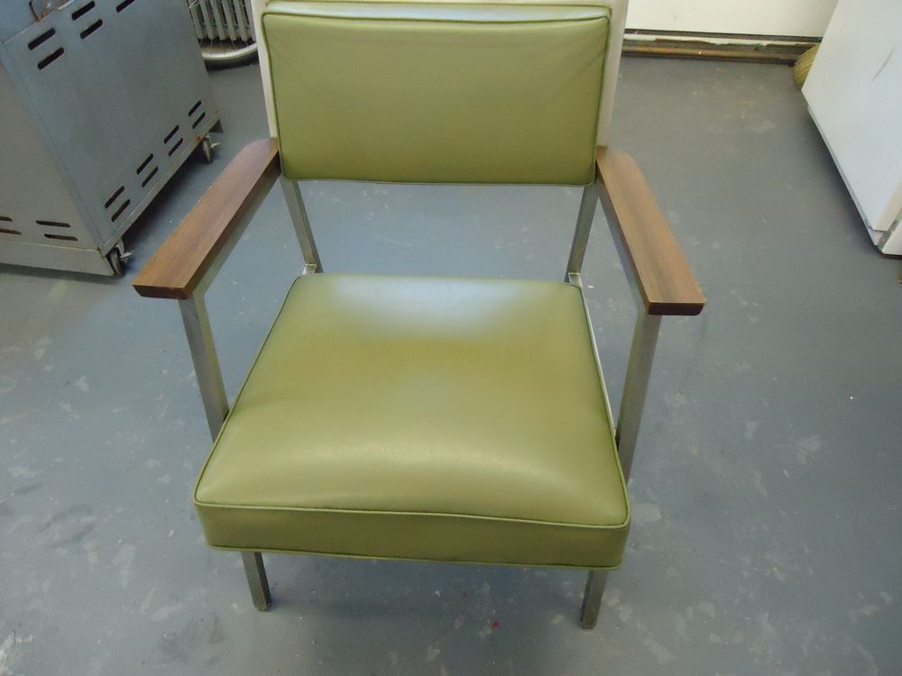 Vintage Steelcase Office Chair Mid Century Lounge Metal 60