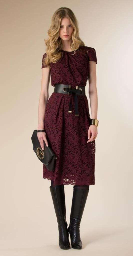 8568cb691308c Abbigliamento Luisa Spagnoli Autunno Inverno 2015-2016 - Abito burgundy  Luisa…