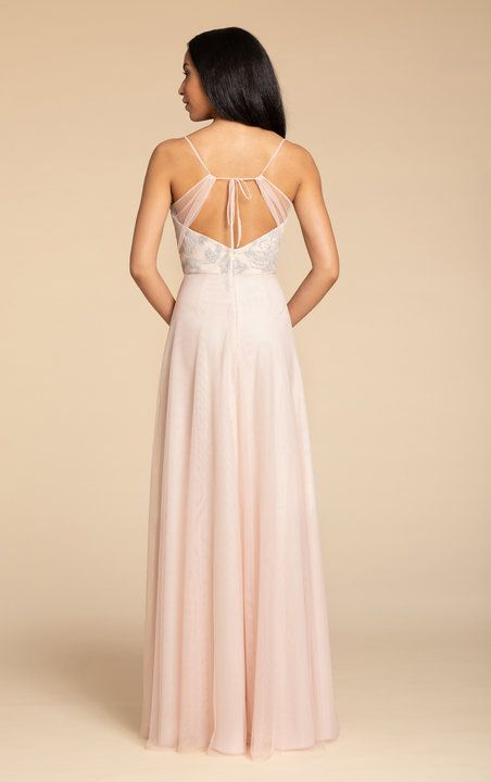 2a3db697b804 Style 5903 Hayley Paige Occasions bridesmaids gown | Almond English net  A-line gown,