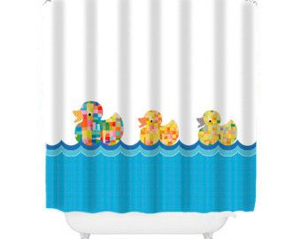 Kids Shower Curtain Ducks Shower Curtain Childrens Shower