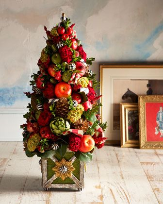 MacKenzie-Childs Estate Barn Tabletop Tree Instant festive holiday