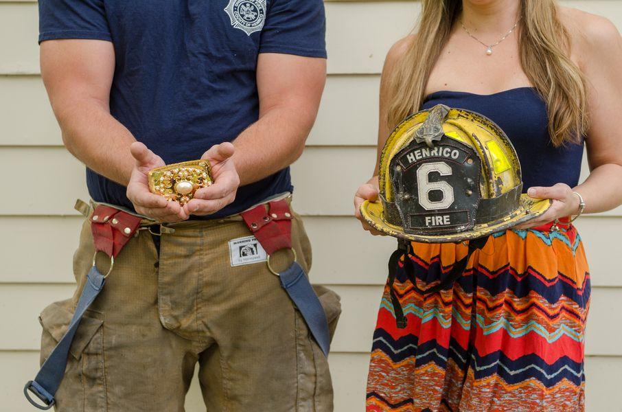 Firefighter Engagement Firefighter Proposal Firefighter Wedding