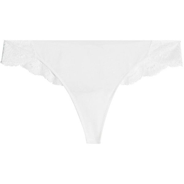 La Perla Thong (€79) ❤ liked on Polyvore featuring intimates, panties, black, la perla thong, lacy thong, lace thong, la perla and underwear thong