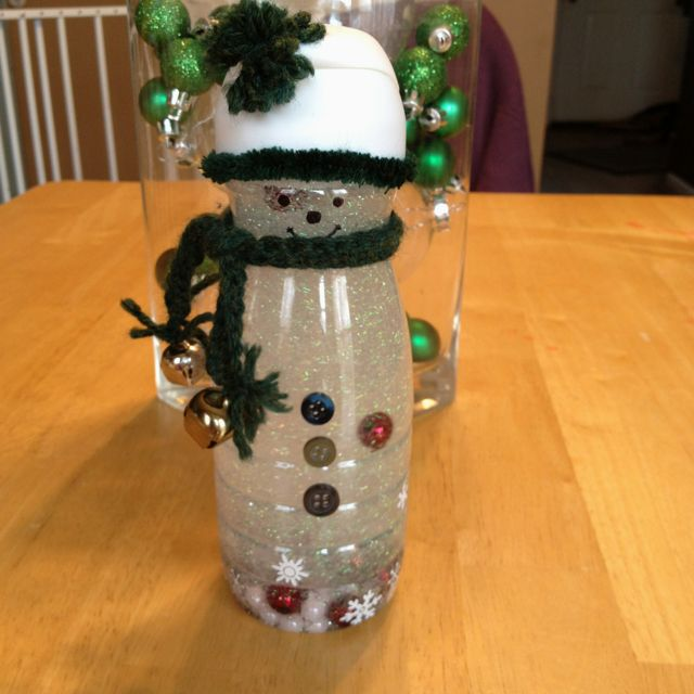 Made a snowman snow globe/shaker so my toddler could have ...