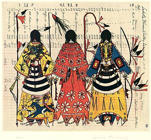 Linda Haukaas Sicangu Lakota Rosebud Sioux Ledger Art