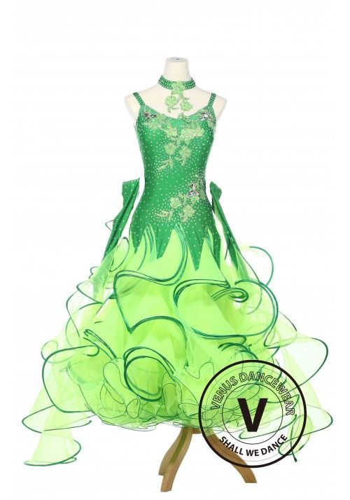 82250bb56 Lotus Leaves Ballroom Dance Smooth Standard Waltz Competition Women Dress