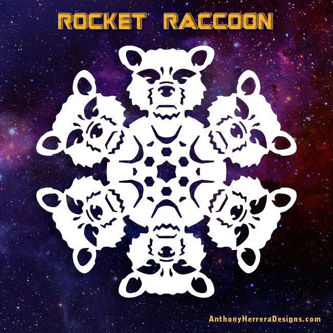 Guardians of the Galaxy snowflakes-rocket-raccoon-preview ...
