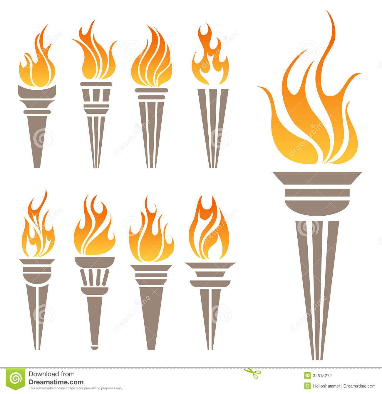 Symbol Torch Stock Vector Image 40040673 Fogo desenho