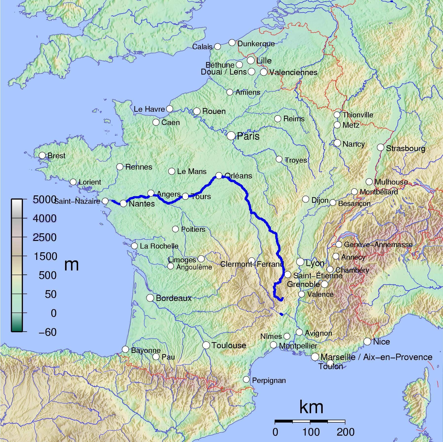 Carte De La Loire Fleuve Tourisme Sentiers Loire Fleuve