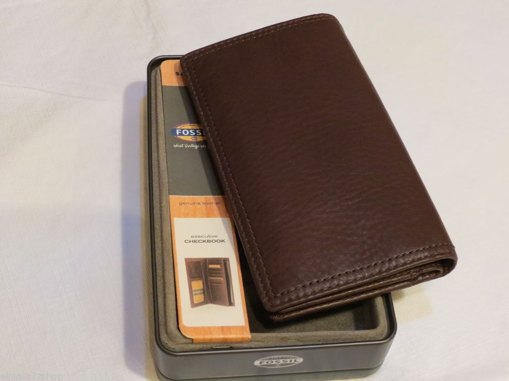 Vintage Leather Look Jeremiah Verse Bible Book Cover Large: Fossil Midway Brown Soft Leather Men's Womens Executive