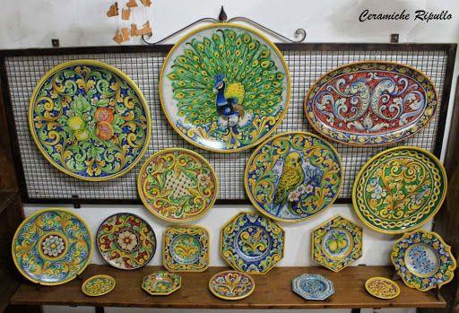 Piatti ornamentali in ceramica www.ceramicheripullo.com ceramiche