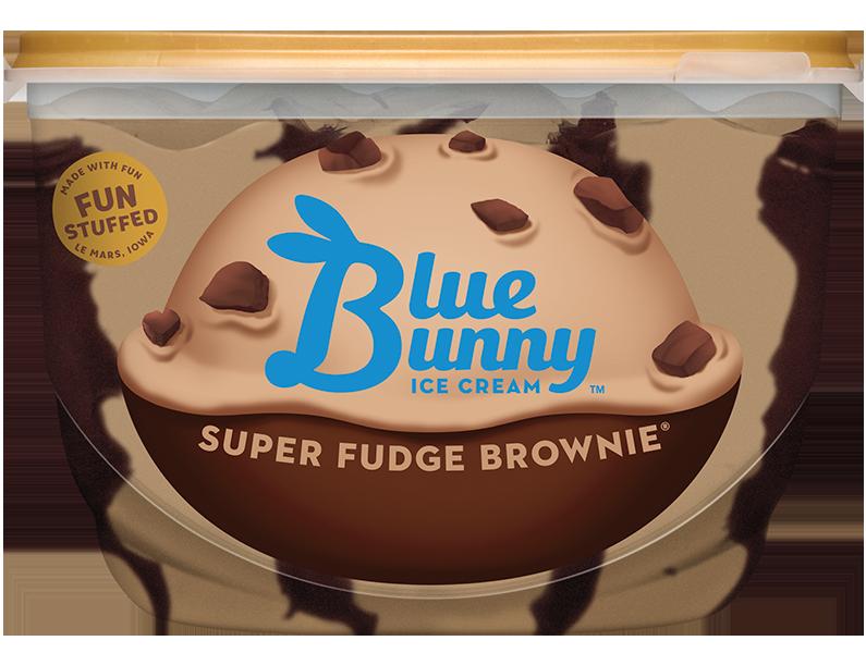Super Fudge Brownie® Blue bunny ice cream, Premium ice