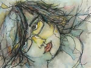 Contour Line Drawing Eye : Contour line drawing self portrait bing images portraits