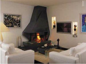 Risultati immagini per camino angolare moderno fireplace