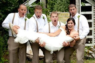 Don't drop the bride!