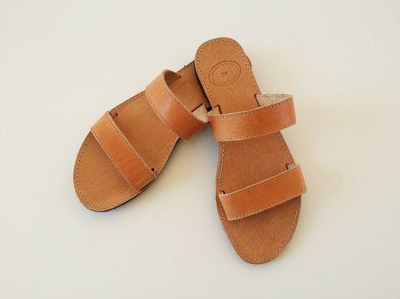 955d89f3e Open Toe Greek Brown Leather Sandals - Women Greek Sandals