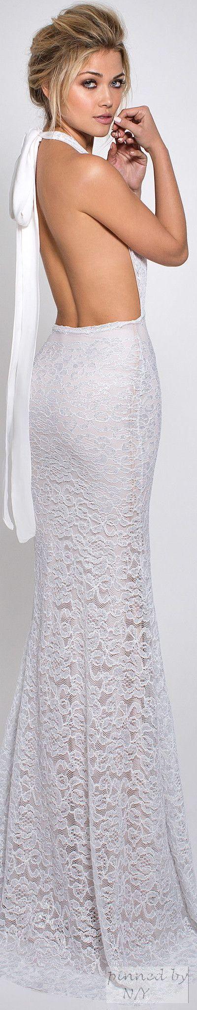 Lurelly adele lace gownwhite ii ny white so chic pinterest