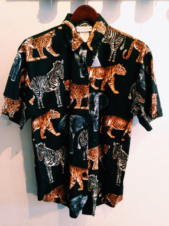 SALE WAS 32.00 Vintage Sahara Animal Blouse / by FrolicExchange