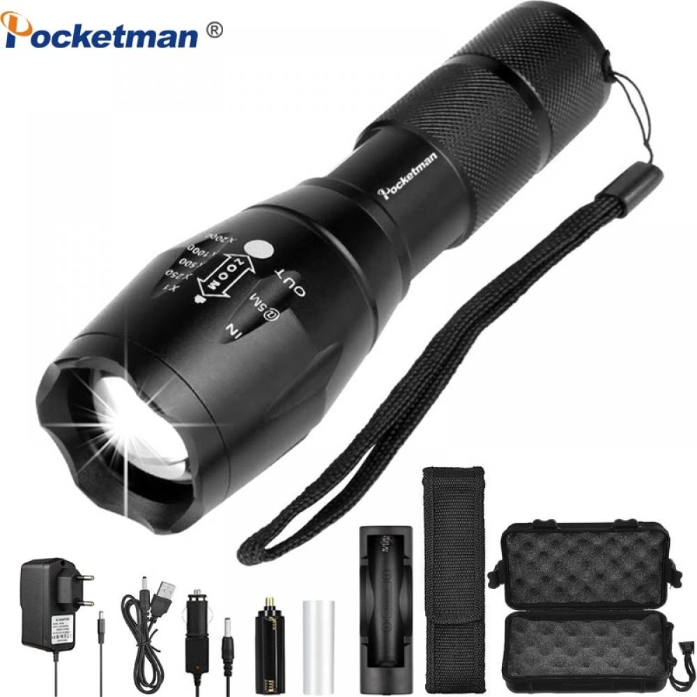 POWERFUL 21700 LED AWESOME Flashlight Cree XHP35 HI 2000lm 18650 Torch With ATR