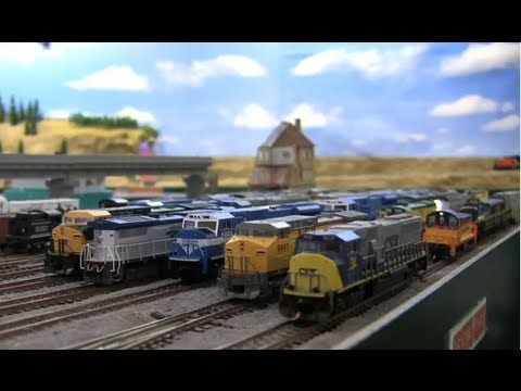 Mini Train - A Very Animated N-scale Train Layout.