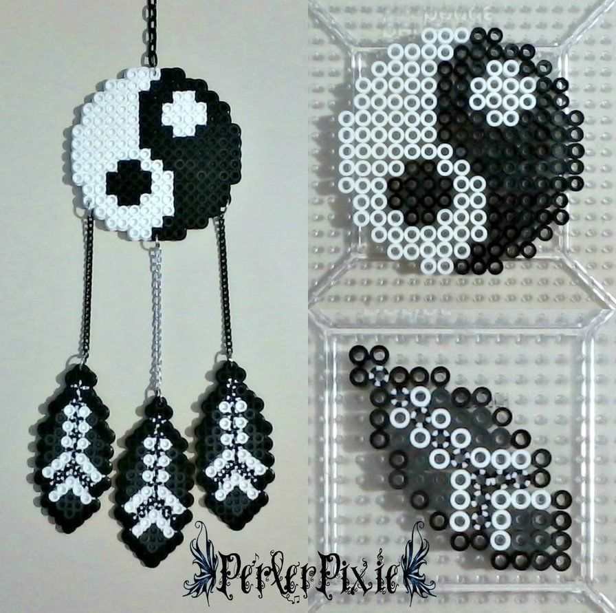 Yin and Yang DreamCatcher by PerlerPixie | ?gifts? | Pinterest ...