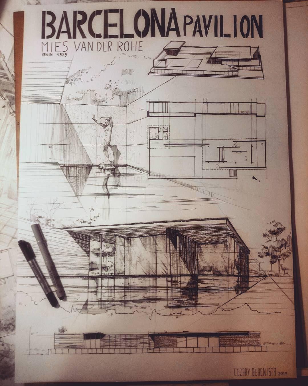 "ArchiSketcher en Instagram: ""Barcelona Pavilion case study ..."