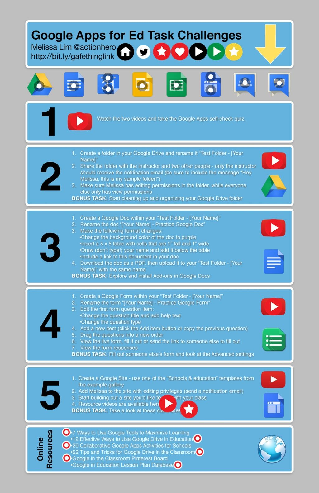 Google Apps For Ed Task Challenges By Melissa Lim Google Apps App Google