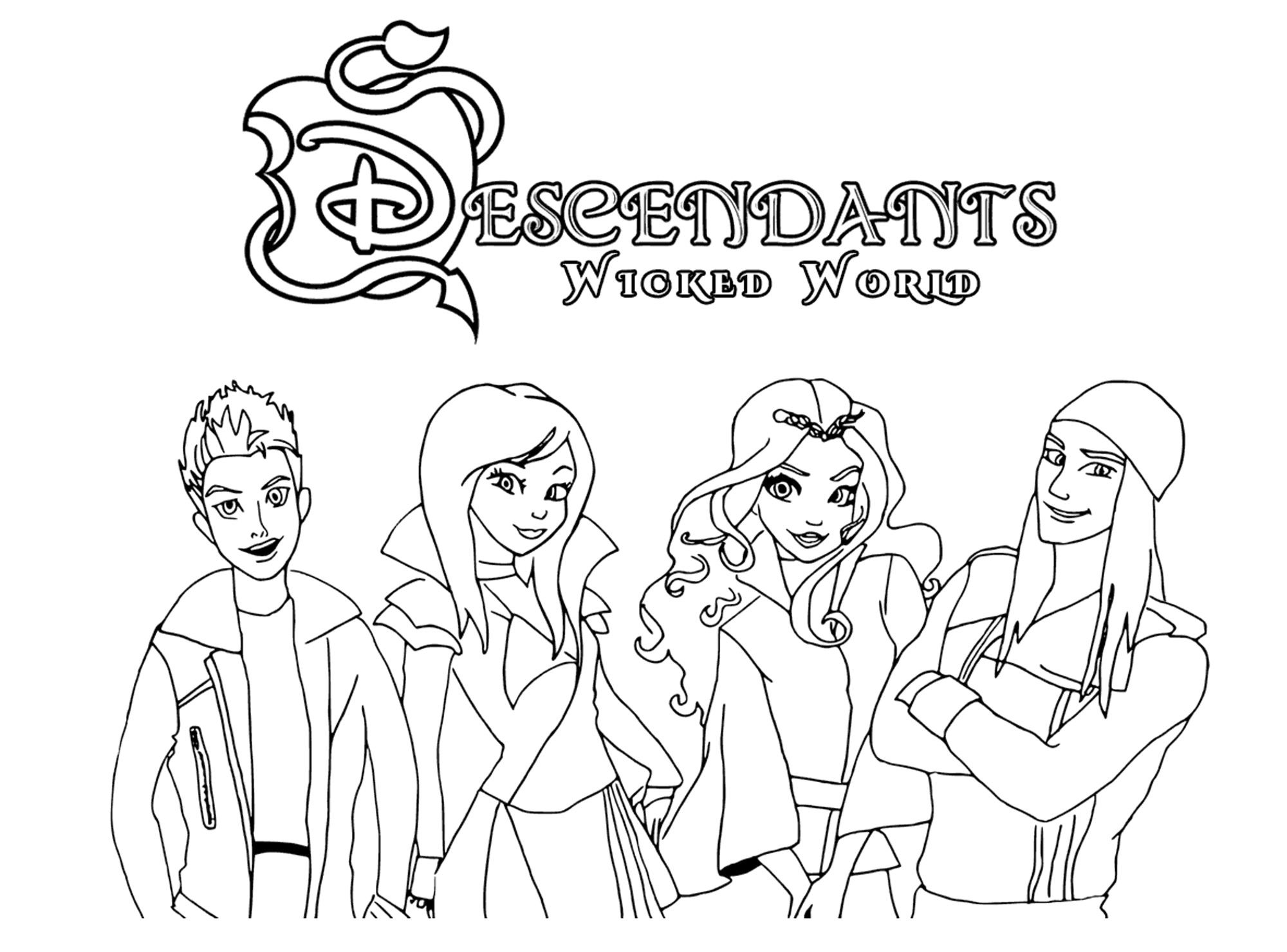 Disney Descendants Coloring Pages Free Best Of Ben And Mal Page Fresh The Coloriage Coloriages