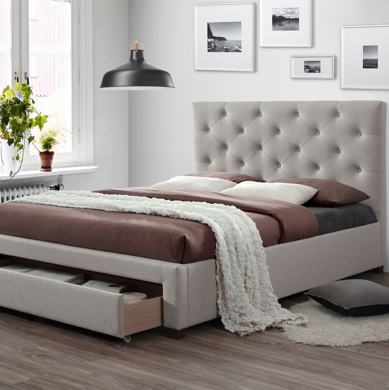 Kingston Queen Bed with Storage Temple & Webster Queen