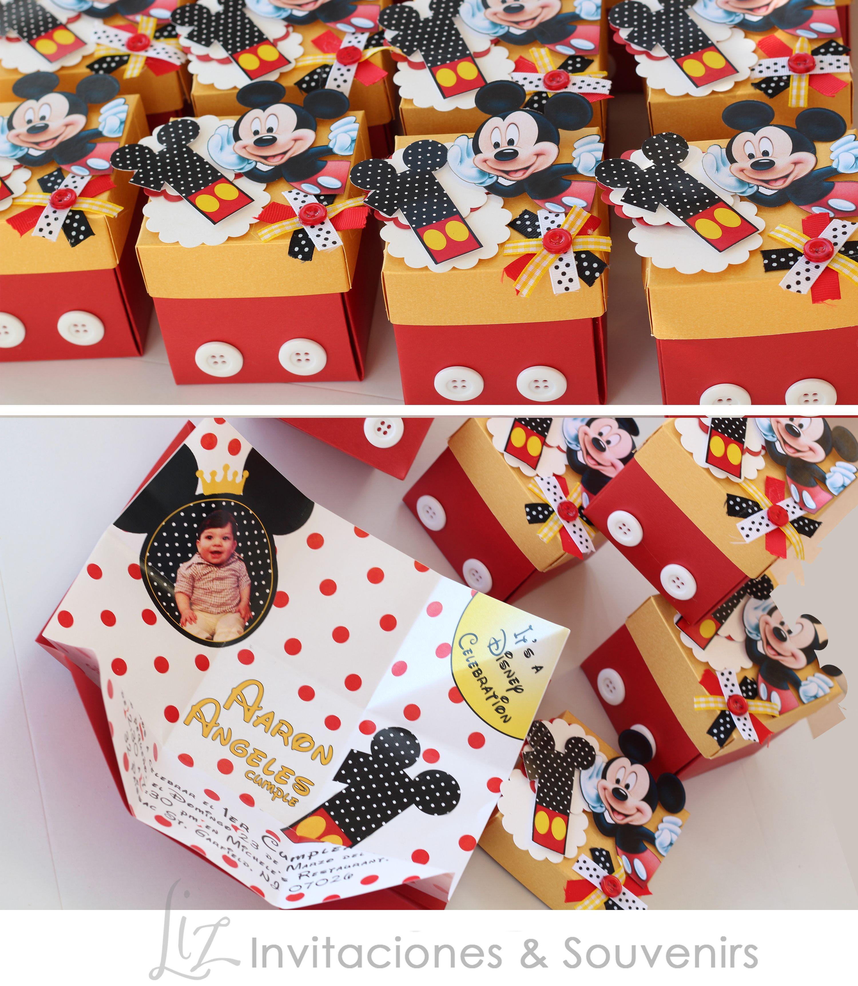 Mickey mouse invitaciones para el primer a ito de baby for Decoracion de casas hechas a mano