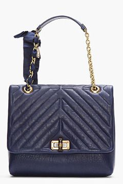 b25df6186 LANVIN Purple Quilted Leather Chain-Strap Happy Bag on shopstyle.com ...
