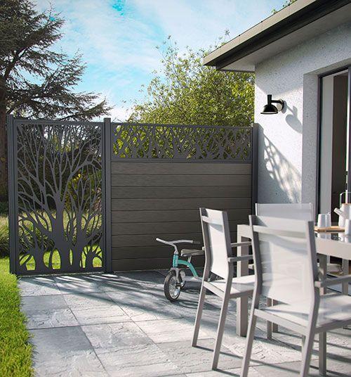 Jardin : Un salon de jardin en métal coloré - CASTORAMA | Jardin ...