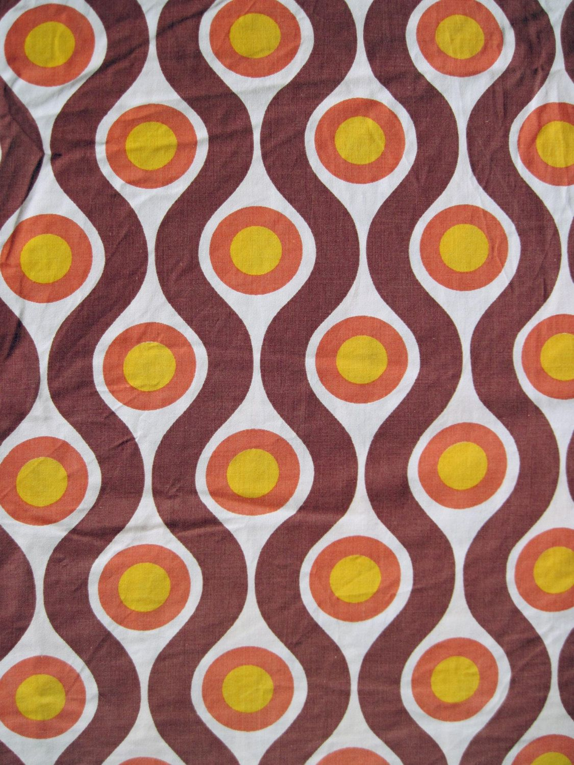Vintage 1960s 70s fabric retro geometric pattern from for Fabric pattern