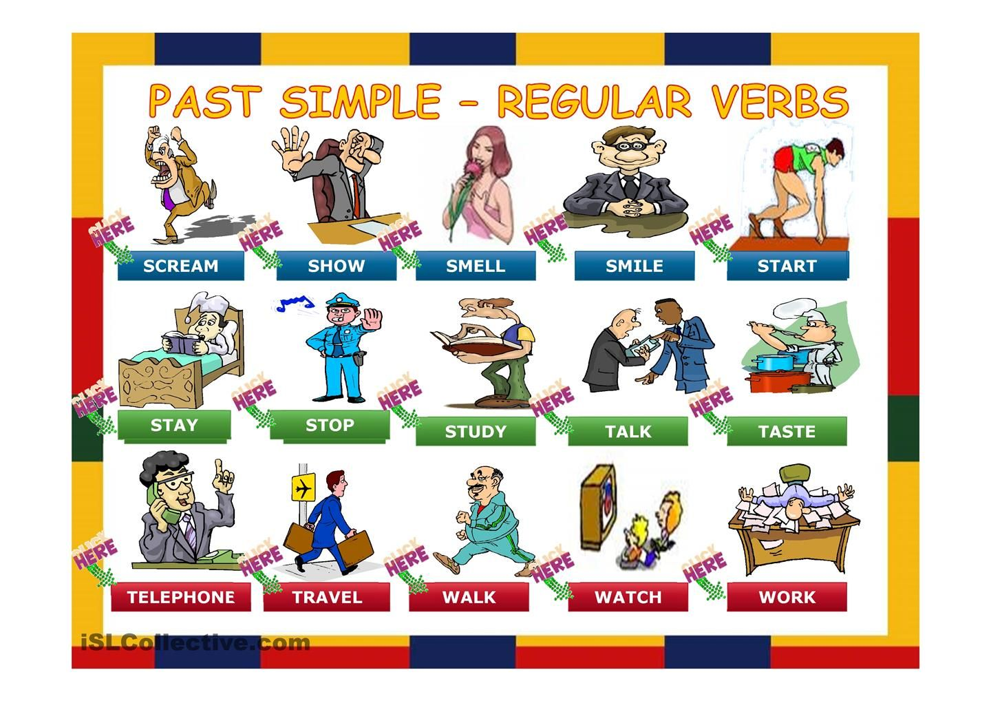 Simple Past Regular Verbs Made Easy Slide Presentation