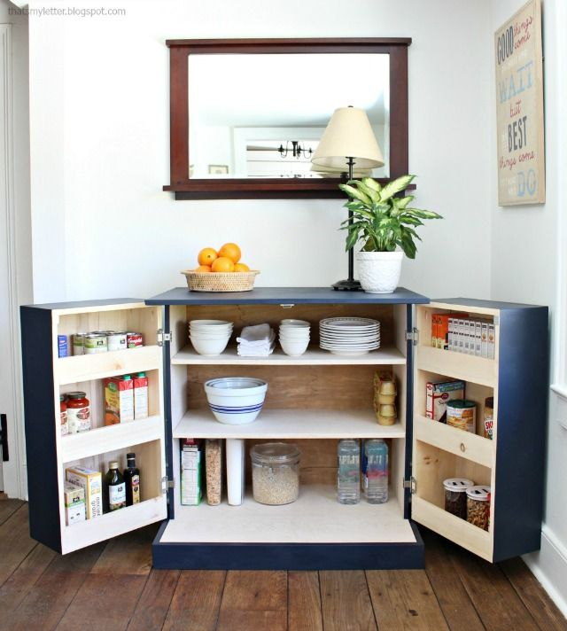Woodworking Plans Kitchen Pantry: DIY Freestanding Kitchen Pantry Cabinet (That's My Letter
