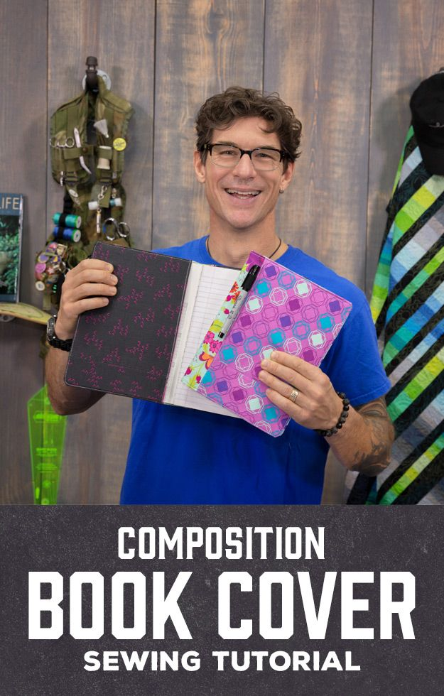 Composition Book Cover Man Sewing in 2020 Composition