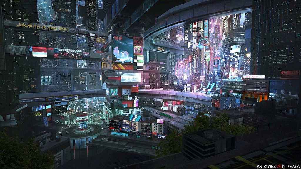 Another Future City Xpost R Wallpaper Cyberpunk Cyberpunk City Futuristic City Sci Fi City