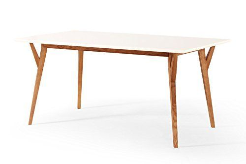 Awesome Table A Manger Blanche Et Bois Pictures  Amazing House