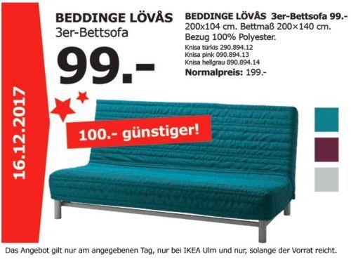 Ikea Beddinge Lovas 3er Bettsofa Haus Garten Schnappchen