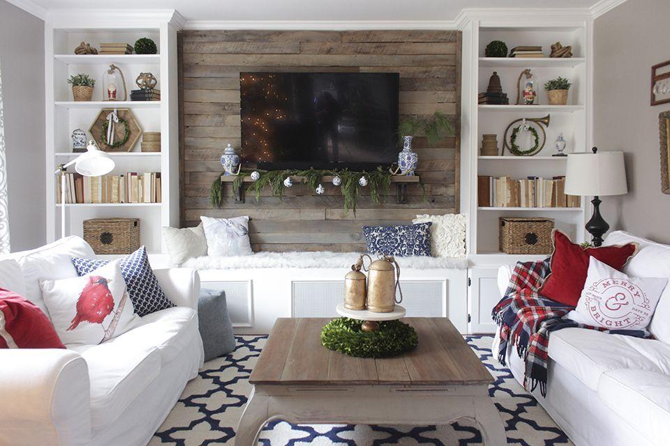diy built in shelves living room