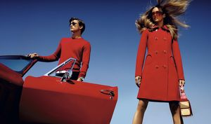 Michael Kors. 2013 Spring ad campaign. Lots of primary colors and stripes. Hmmm.